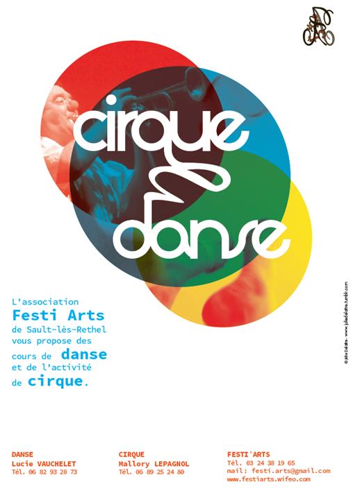 Affiche danse cirque festiarts 2013